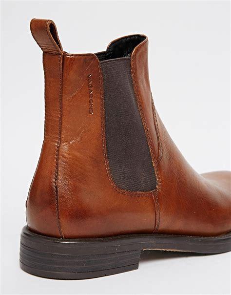 cognac leather boots vagabond vagabond amina cognac leather chelsea ankle