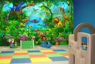 large wall mural jungle animalskid in the mural jungle animals wall murals huge realistic jungle theme