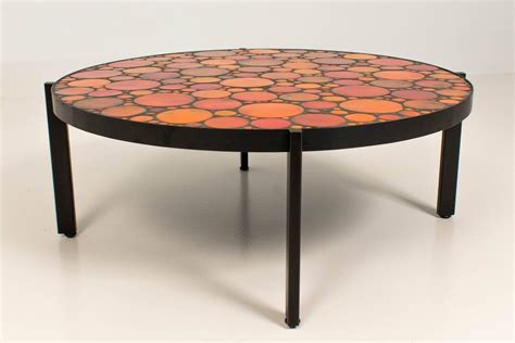1960s Coffee Table Mid Century Modern Coffee Table With Mosaic Tile Top 1960s At 1stdibs