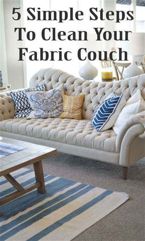 How To Clean Upholstery Fabric by 5 Simple Steps To Clean Your Chair Or Sofa Diy
