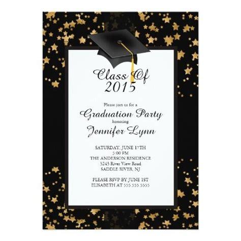 accesorios para graduacion invitaciones para graduaciones invitaci 243 n negra 2015 de la fiesta de graduaci 243 n fiesta
