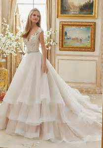 gown for wedding vintage embroidery on organza gown style 2895 morilee