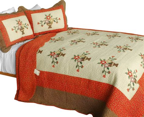 Patchwork Quilt Sets To Make - winter sonata 3pc cotton contained patchwork quilt set
