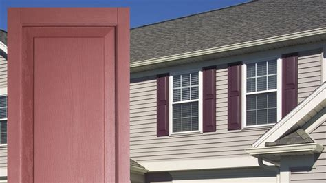 shutters for house windows raised panel exterior vinyl shutters by window world