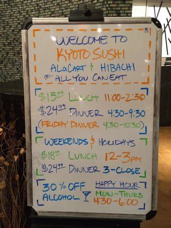 Buffet Prices Picture Of Kyoto Sushi And Hibachi Eagan Hibachi Sushi Buffet Prices