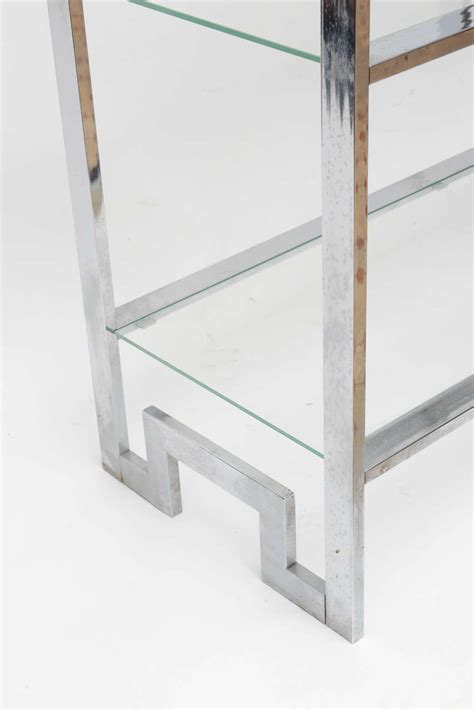 Etagere 9 Cases Leclerc by Midcentury Chrome Milo Baughman Etagere For Sale At 1stdibs