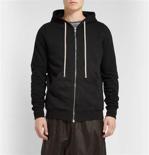 Zipper Hoodie Porter Robinson 1 rick owens drkshdw cotton jersey hoodie in black for lyst