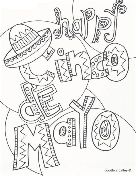cinco de mayo coloring pages cinco de mayo coloring pages doodle alley