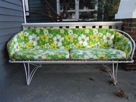 vintage homecrest sofa patio furniture garden pinterest