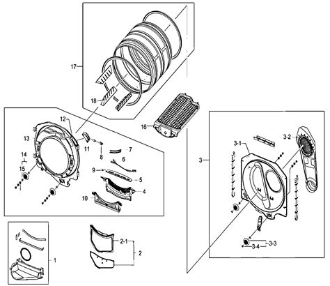 drum assy diagram parts list for model dv330aewxaa samsung parts dryer parts searspartsdirect