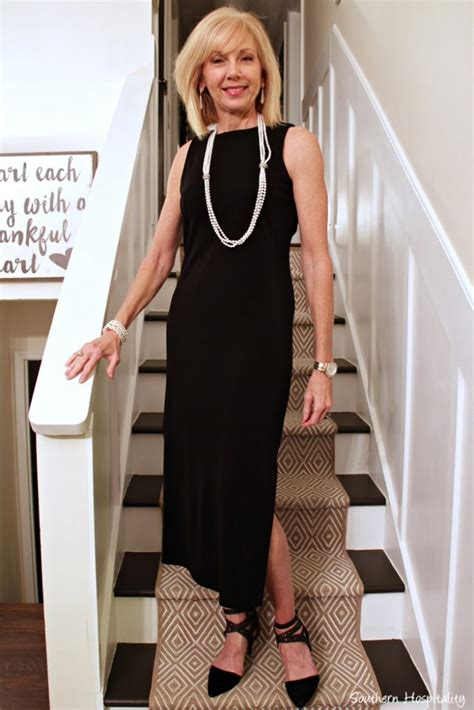 should women over50 wear long dresses fashion over 50 the little black dress southern hospitality