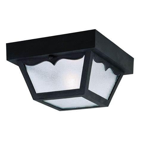 Outdoor Flush Mount Light Fixtures Westinghouse 1 Light Black Hi Impact Polypropylene Flush Mount Exterior Fixture With Clear