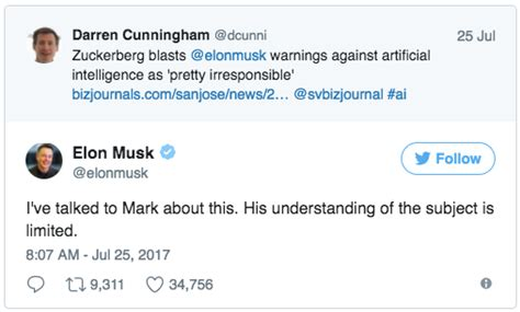 elon musk on ai what is the argument in detail between mark zuckerberg and