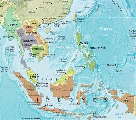 south east asia country map southeast asia