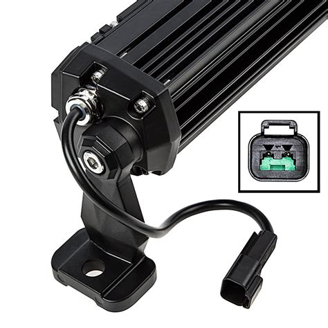 plug in light bar 6 quot off road led light bar with multi beam technology 30w