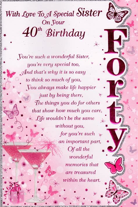 40th Birthday Verses For Cards Pinterest The World S Catalog Of Ideas