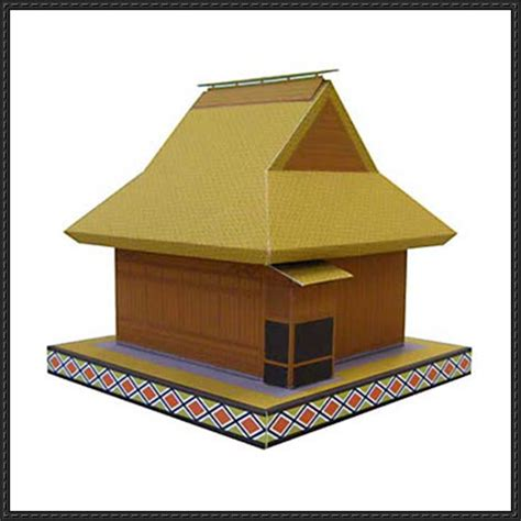 Paper Craft Square - kabuki theater free building paper model