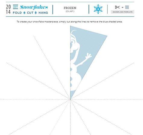 olaf snowflake template printable pop culture snowflakes 2