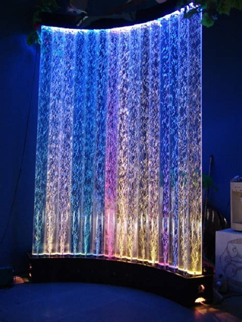 hm customized floor standing led water bubble tube