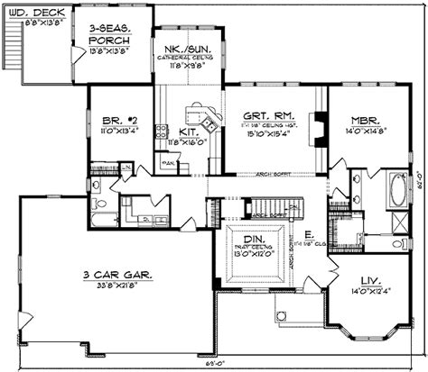 bay window floor plan bay window and column flanked entry 89070ah architectural designs house plans
