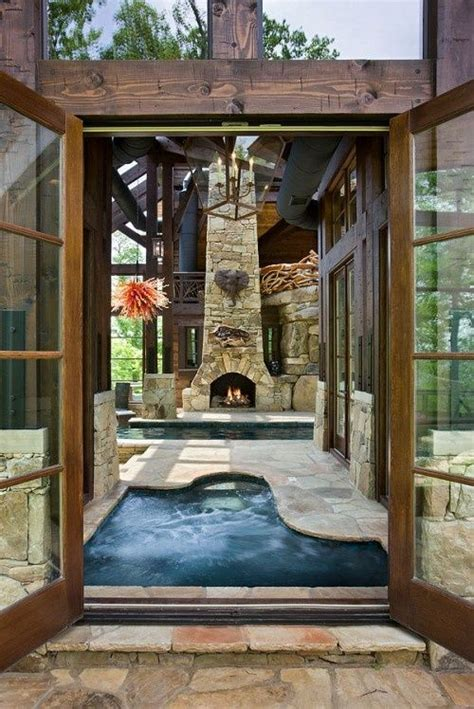tub pool fireplace awesome homes