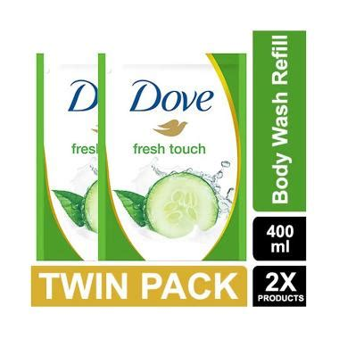 Harga Sabun Cair Dove Refill jual dove go fresh wash fresh touch refill 400 ml