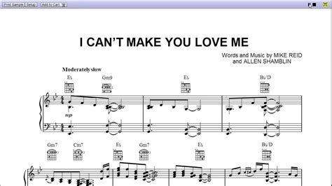 can t make you love me chords adele i can t make you love me by bonnie raitt piano sheet