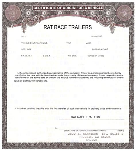Manufacturer Certificate Of Origin Template 17 digit vin motorcycle html autos weblog