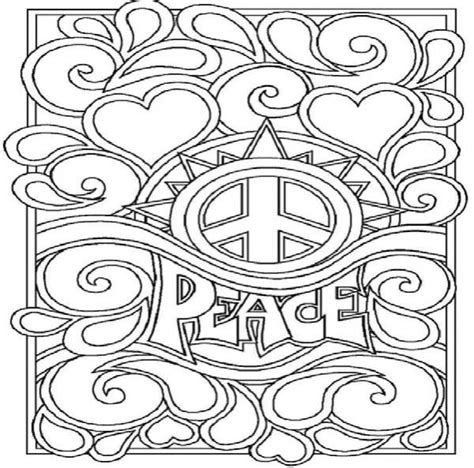 peace and love coloring sheets 11985 bestofcoloring com