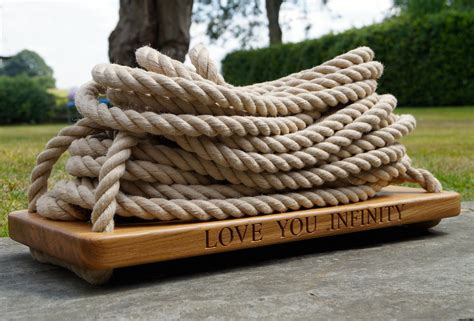 wooden rope swing personalised garden rope swings makemesomethingspecial
