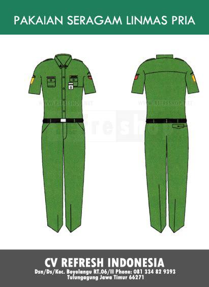 Alarm Baju pakaian seragam linmas pria toko perlengkapan tni polri