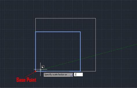 Autocad Untuk Teknik Modula memperbesar dan memperkecil autocad objek dengan scale mufasucad