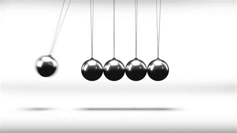 Newtons Cradle Science Concept Stock Footage Video