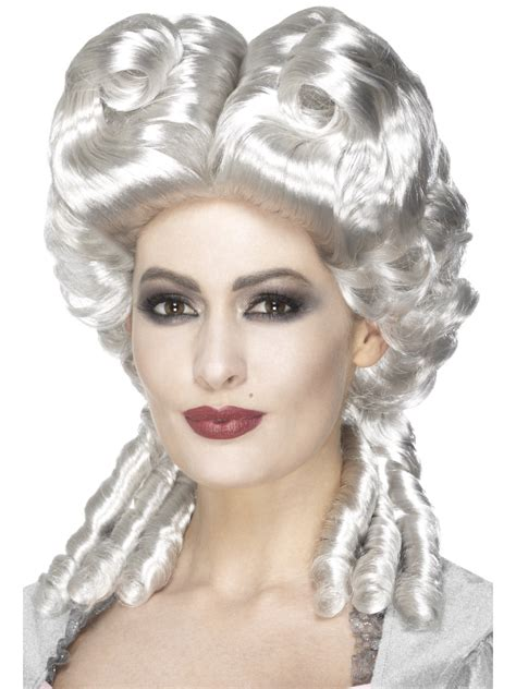 halloween fancy dress costumes scary masks and wigs white marie antoinette wig 45087 fancy dress ball