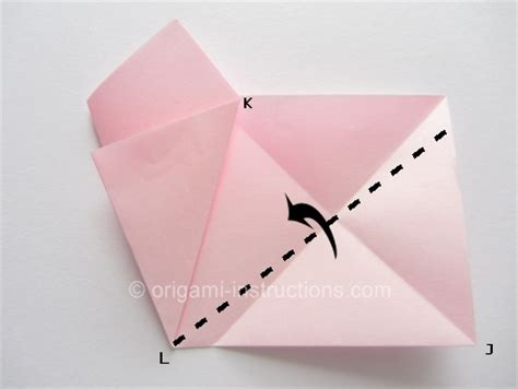 Make Paper L - easy origami cherry blossom folding