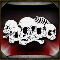 skull background 23 airbrush stencil template airsick ebay