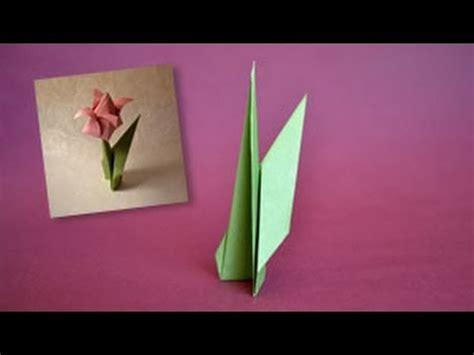 Origami Tulip Stem - origami flower stem www origami