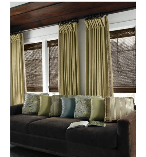 wooden blinds with curtains dark wood trim bamboo blinds and curtain designs on pinterest