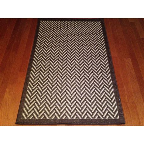 Woven Geometric Brown Beige Indoor Outdoor Area Rug 3 3x5 Outdoor Rug