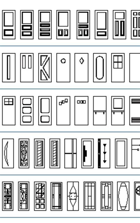 House Plan Symbols by Doors Cad Blocks Thousand Dwg Files Simple Doors Double
