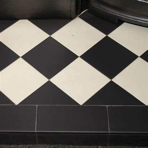 patterned quarry tiles black white diamond quarry tile hearth from vfs