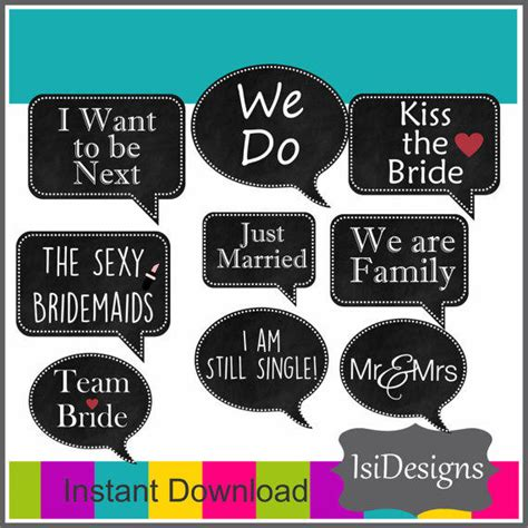 wedding photo booth props templates wedding photo booth props printable from isidesigns on etsy