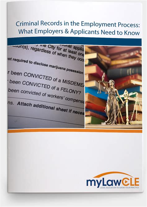 Criminal Record And Employment Criminal Records In The Employment Process What Employers Applicants Need To