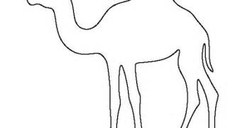 camel pattern use the printable outline for crafts