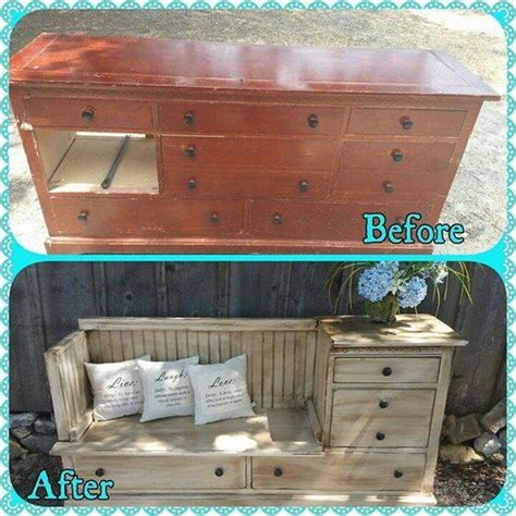 Dresser Turned Into Bench by 40 Of The Most Ideas Diy You Need To Try
