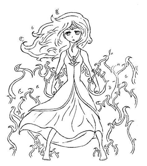 adventure time flame princess coloring pages coloring pages
