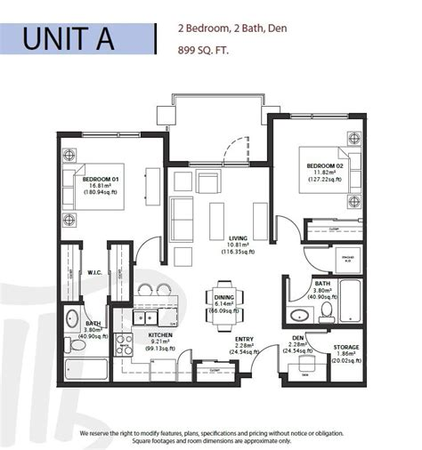 1 floor range six different floor plans range from 678 to 998 square