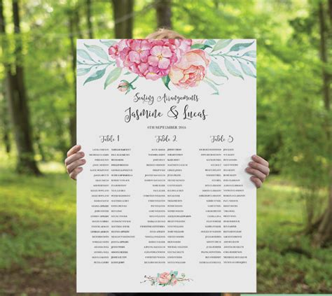 seating plan template wedding seating chart template free premium templates