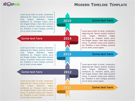 Modern Timeline Template For Powerpoint Openoffice Timeline Template