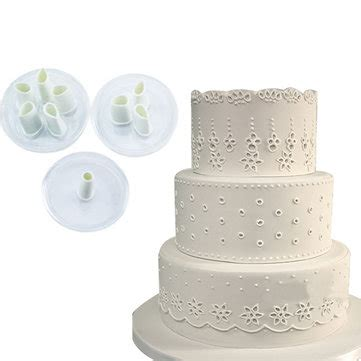 Rm Renda 3 Fondant Mold 3pcs lace plastic fondant cuttter cake cookie buscuit mold baking decorating tools